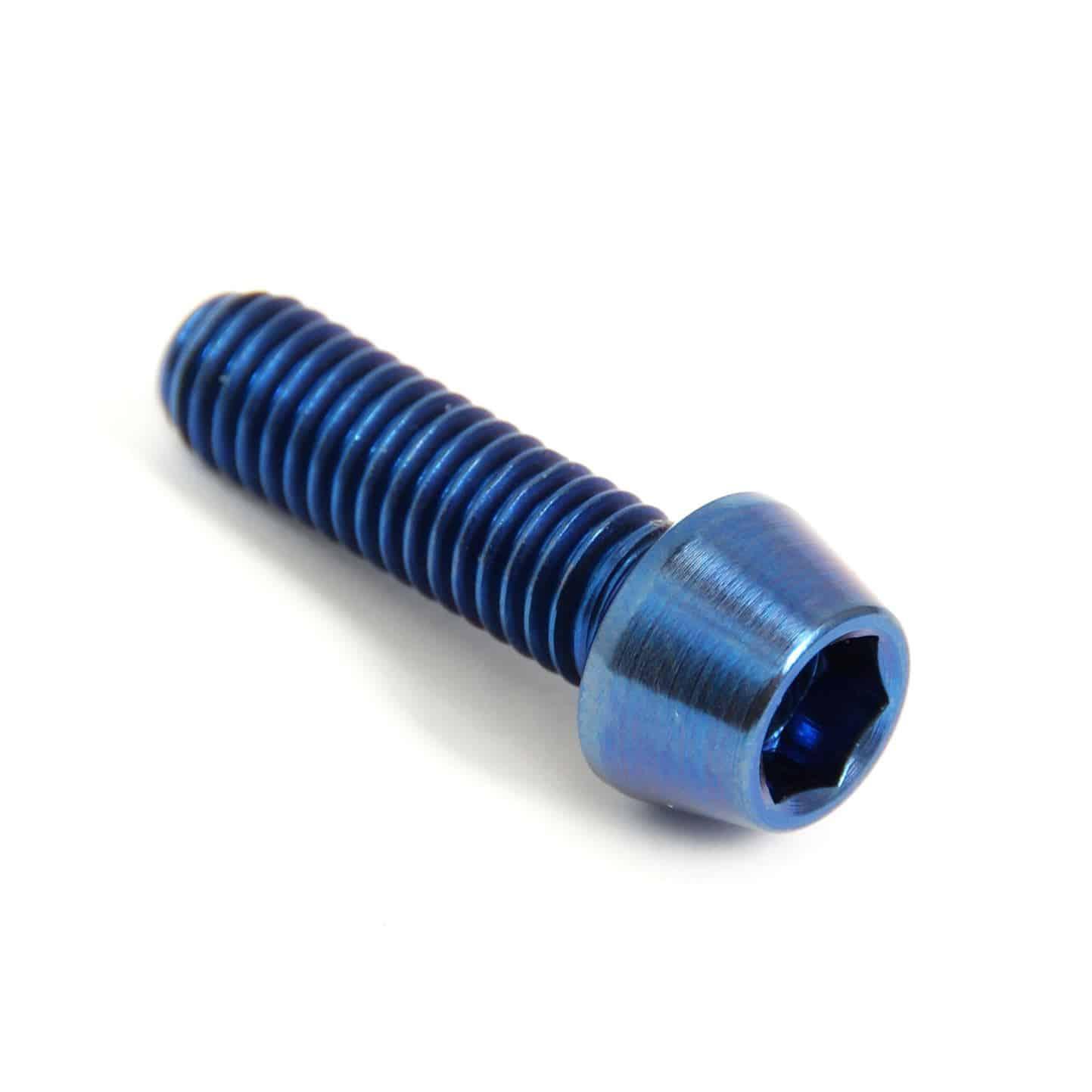 Avid Hayes Blue Titanium Caliper Bolts M6x15mm 4 Pack Fit Hope