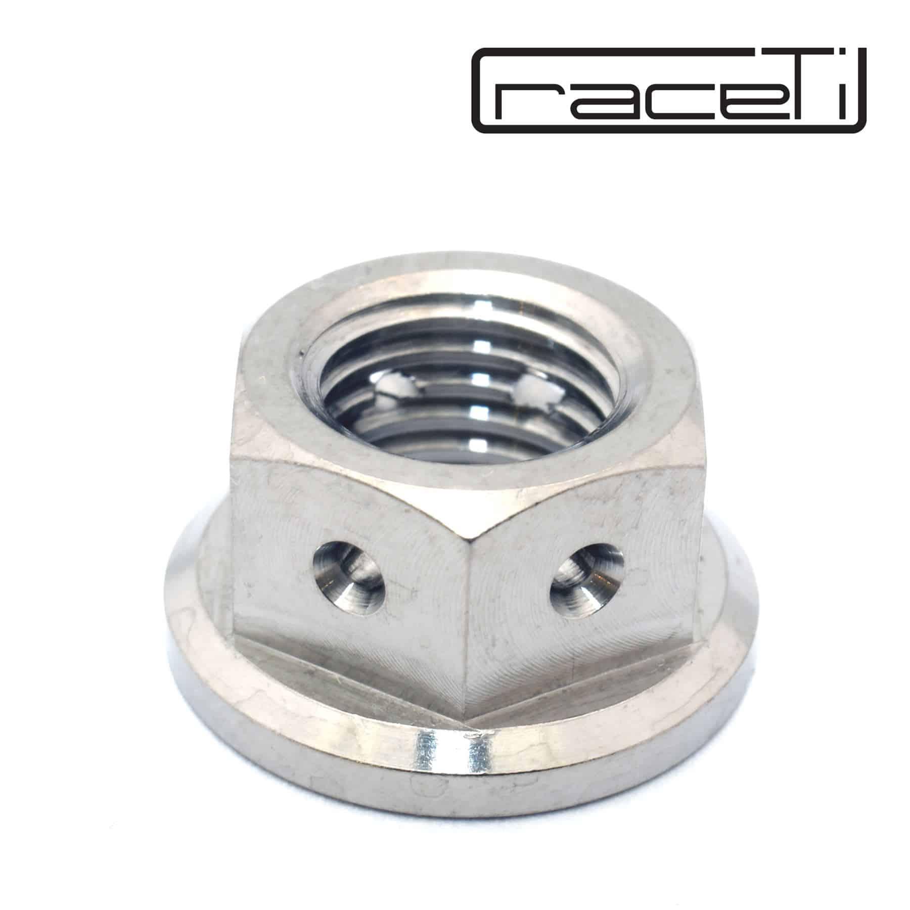 2PC Titanium Flange M10 Lock Nut 1.25mm pitch Nylon Lock Nut Hex nut
